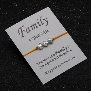 Jewelry - Family Forever Yellow Rope Spiral Circle Bracelet